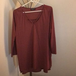 Light brick red shirt purchased through stitch fix